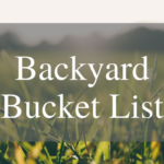 Simple Summer Bucket List
