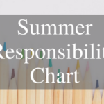 Kid's Summer Responsibility Chart