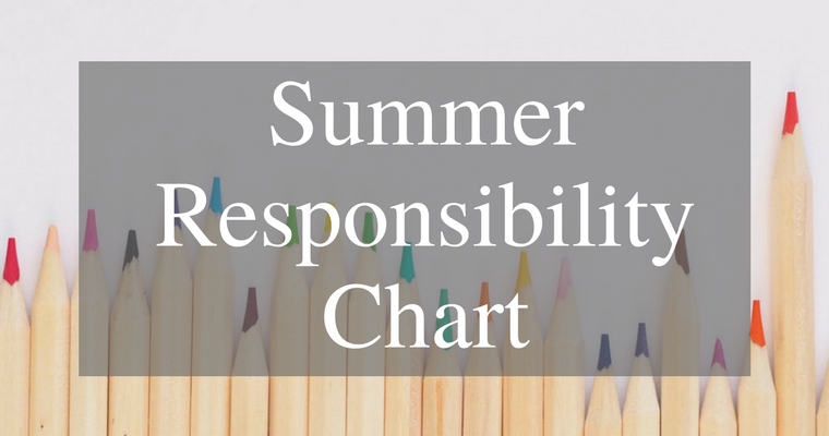 Are you looking for a simple solution to keep your kids on task without constant nagging this summer? Try this simple Summer Responsibility Chart and enjoy a more productive summer!