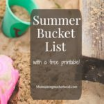 Great Summer Bucket List