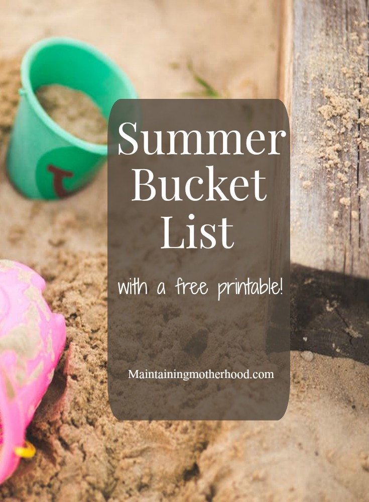 Have you created your summer bucket list? Here is a free printable with great ideas to have fun with your kids all summer long!