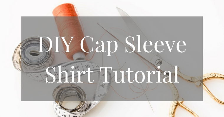DIY Cap Sleeve Shirt