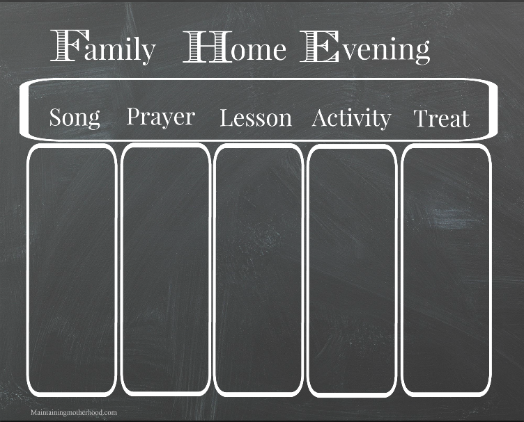 We love having weekly Family Home Evening to spend time together and strengthen our family. Get your own Family Home Evening chart printable.