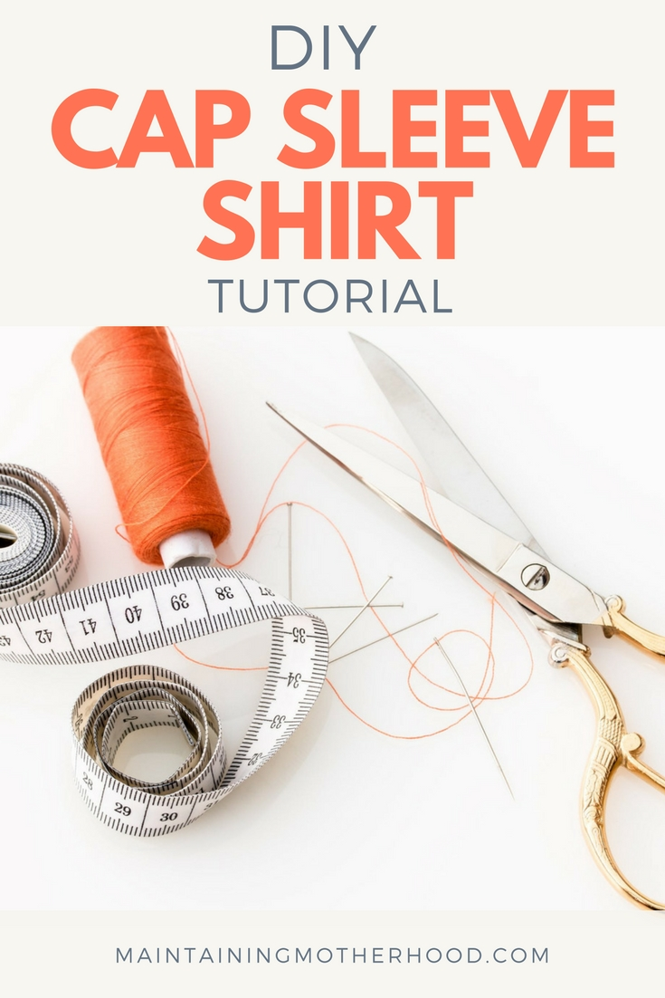 Looking to make your own DIY Cap Sleeve Shirt? It's perfect to wear under a convertible dress, or just for your everyday style. Find the tutorial here!