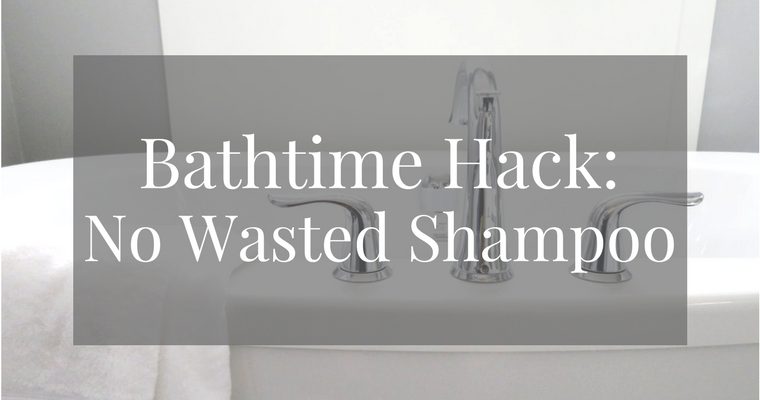 Kid Bath time Hack No More Wasted Shampoo