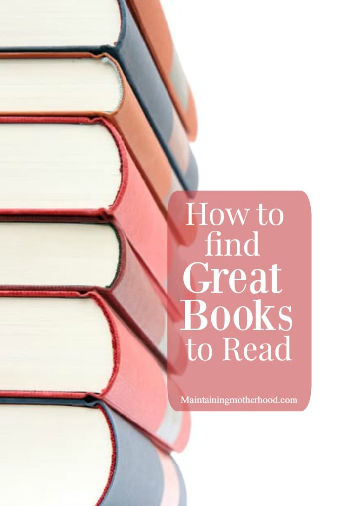 It's fairly easy to find a great children's book to read, but how do you choose a book to read for yourself? Check out my tips to find great books to read!