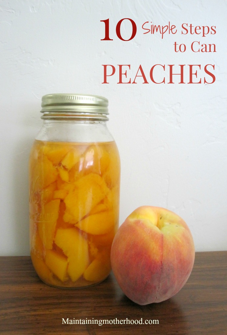 Want to savor the taste of summer all winter long? Enjoy canned peaches long after peach season. Learn how to can peaches in 10 simple steps.