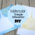 Watercolor Temple Silhouette DIY