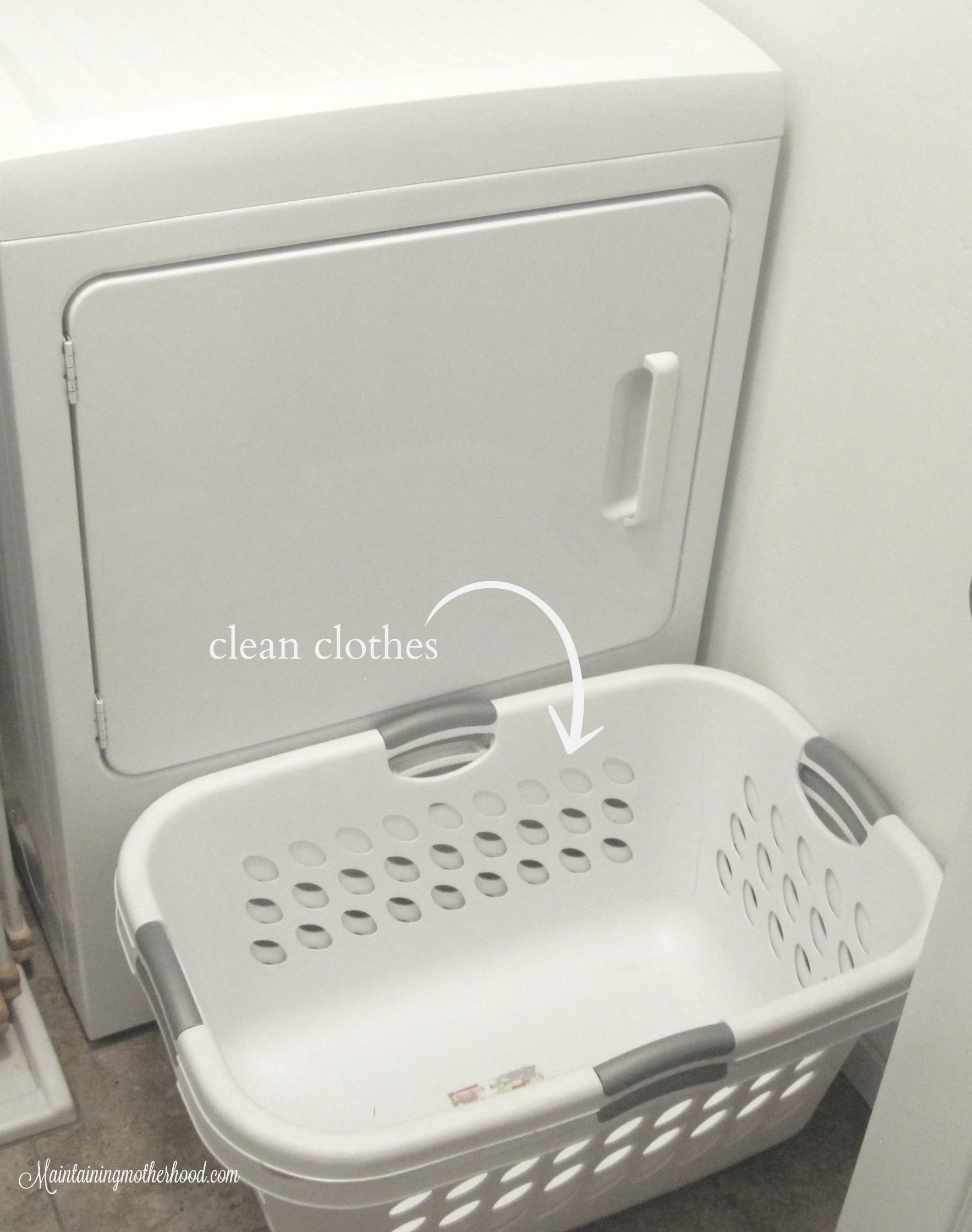 Although laundry is a never-ending task, it doesn't have to be an overwhelming task. I have a system that works great, and I want to share it with you!