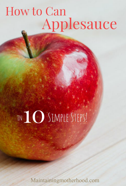 We go a little bit crazy preserving the deliciousness of fresh apples. Here are 10 simple steps to walk you through how to can applesauce.
