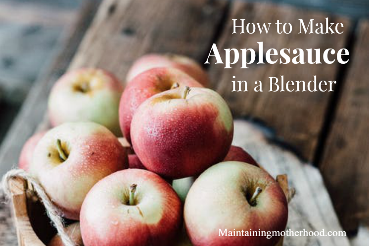 Want a fast and easy way to make applesauce? Learn how to make applesauce in a blender today with a just a few simple steps!