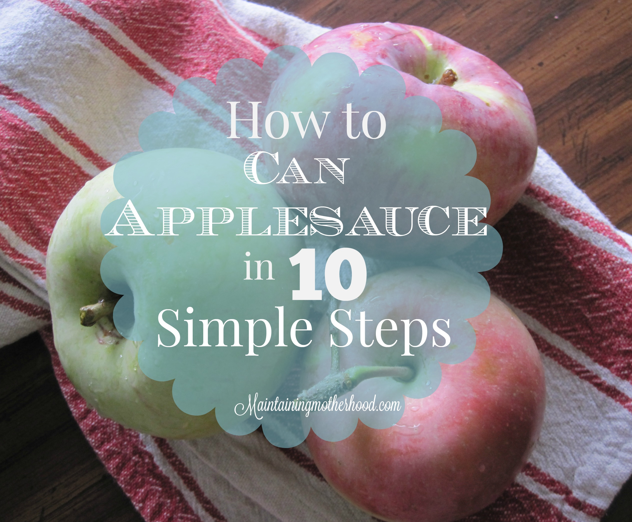 We go a little bit crazy preserving the deliciousness of fresh apples. Here are 10 simple steps to walk you through how to can your applesauce.