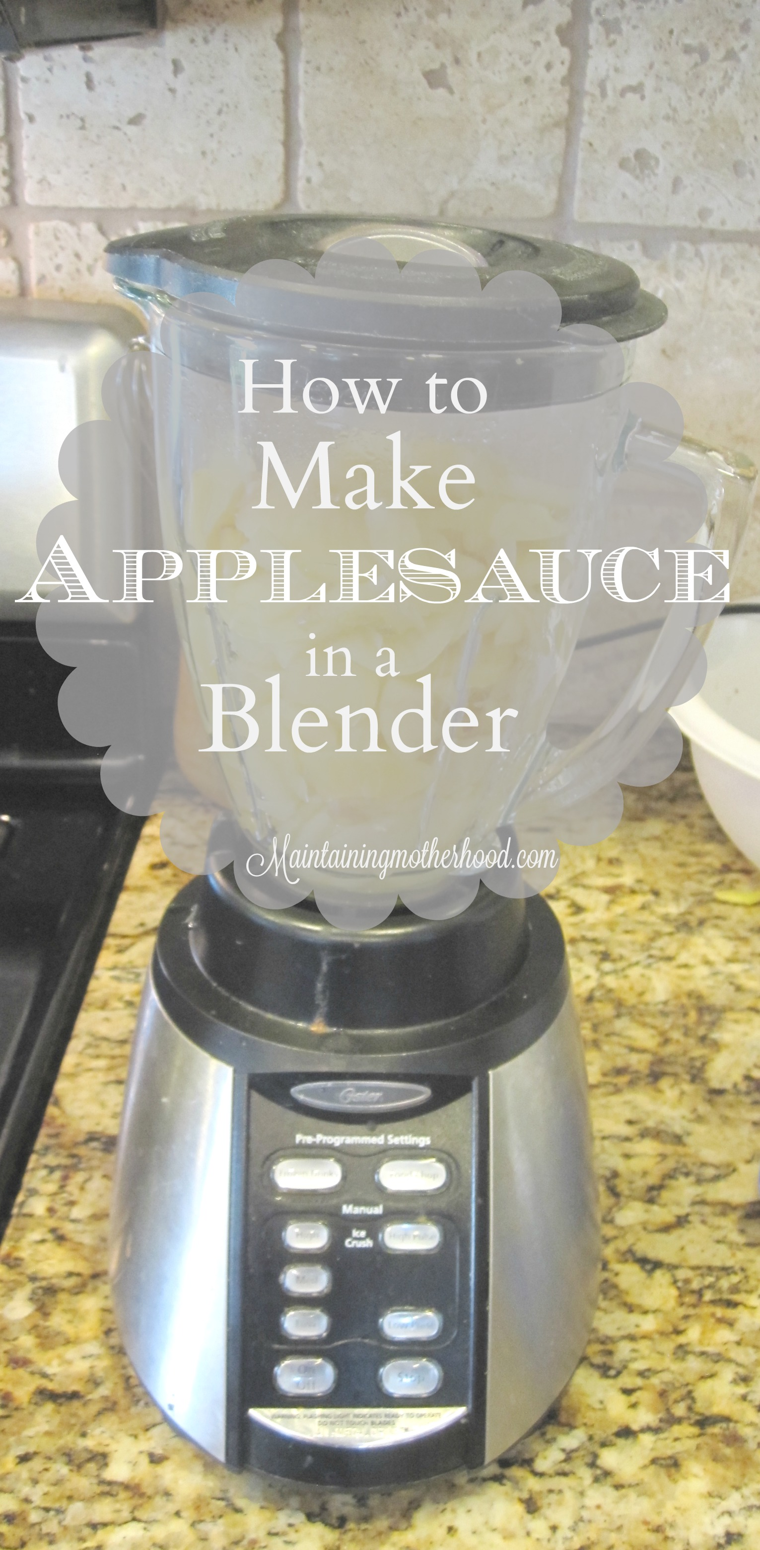 I used to think the only way to make applesauce was with a food strainer. I recently tried making applesauce in a blender, and really liked it!