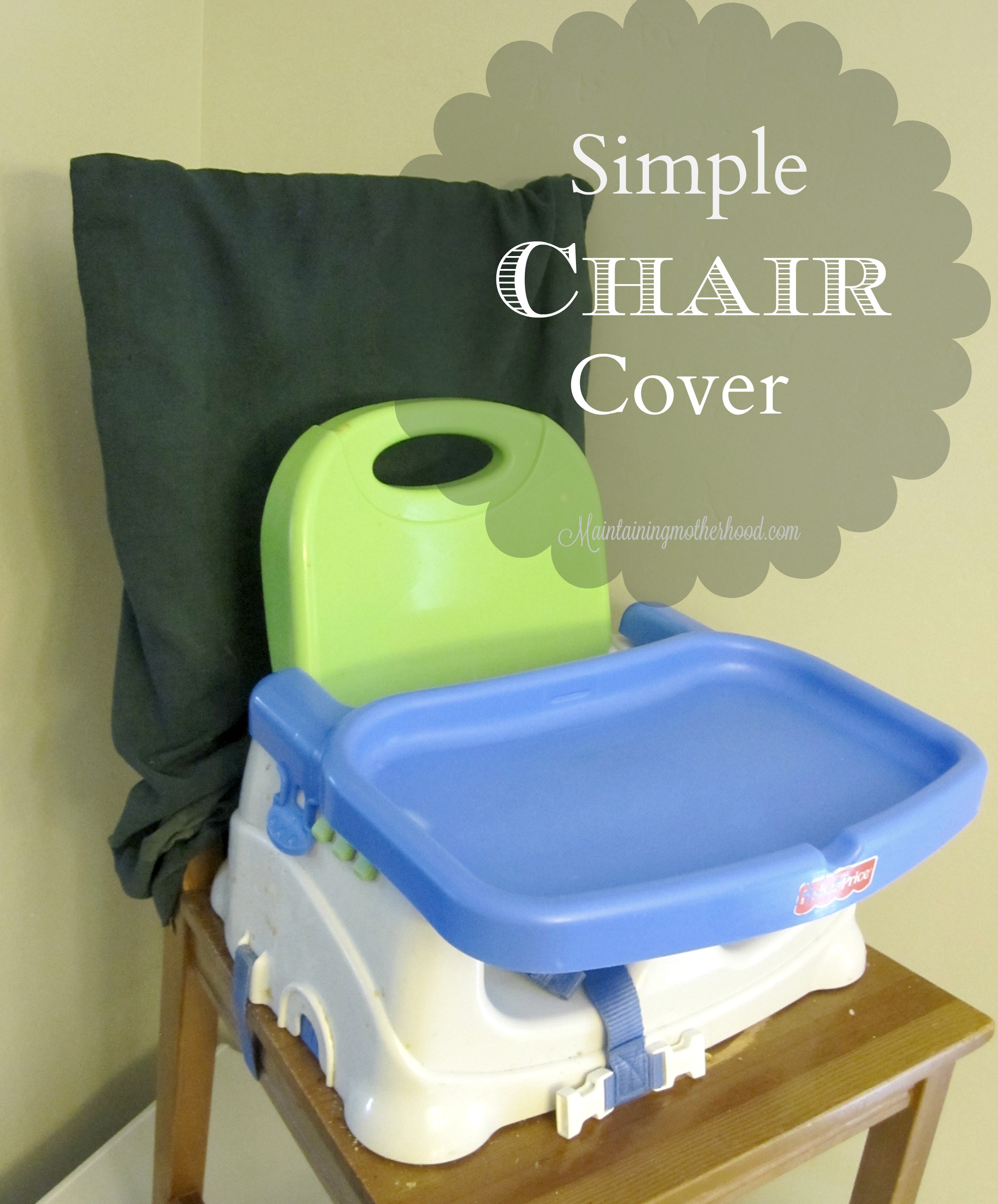 Kids are messy eaters. Using easy-to-clean chair covers reduces the amount of clean up after meals, and the scrub-down-the chairs rush before guests.