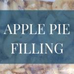 Frozen Apple Pie Filling
