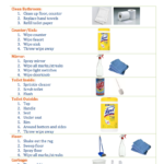 Clean Bathroom Checklist for Kids