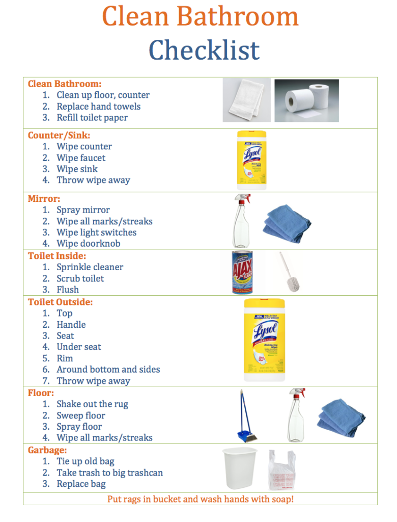 Do your kids clean bathrooms? With this Clean Bathroom Checklist, your kids will be cleaning bathrooms like professionals!