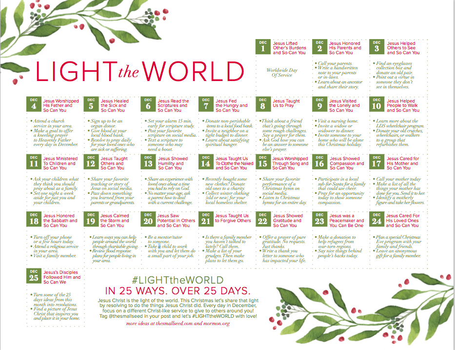 Looking for ways to serve this holiday season? Join with millions to Light the World.