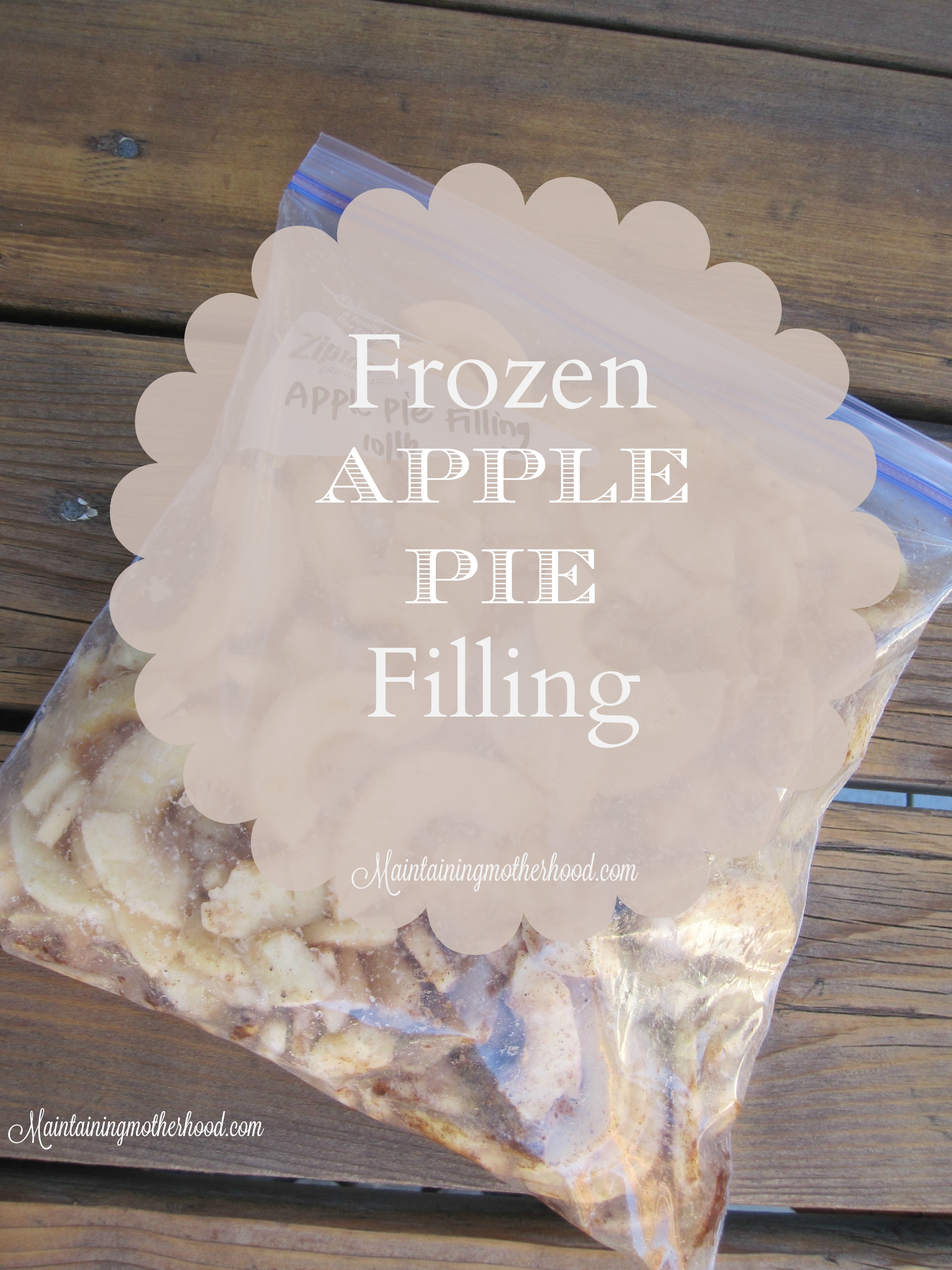 If you are looking to prepare apple pie in advance for the holidays, here's a simple way to whip up apple pie filling in bulk and always have it on hand!