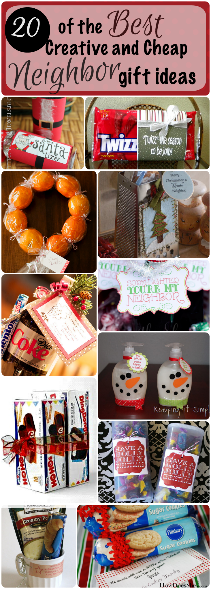 Still looking for that perfect Christmas neighbor gift to give this year? Look no further! Here is a great idea for under $1 (and a roundup of more ideas!)