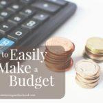 How to Easily Make a Budget