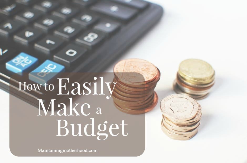 Budgeting and finances. Two cringe-worthy words. Learn how to easily make a budget to help you reach your financial goals! It's easier than you think!