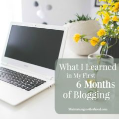 What I Learned in My First 6 Months Blogging