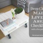 Deep Clean Main Living Area Checklist