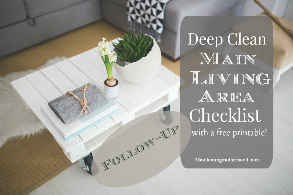 Did you deep clean and purge in January? Check over my main living area deep clean list. See what a difference it made for me, and try it for yourself!