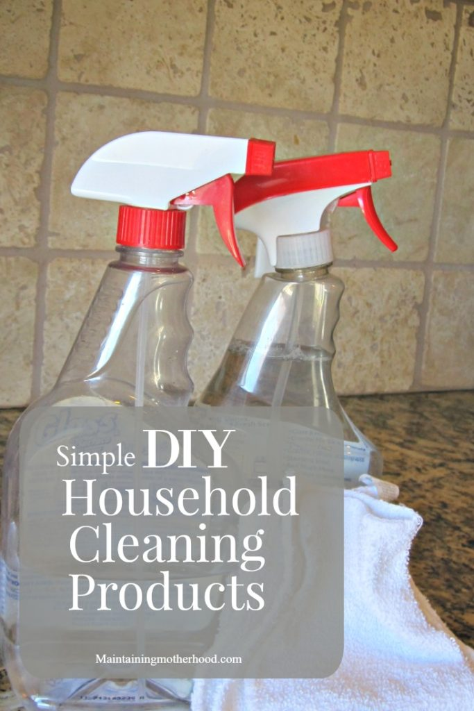 Looking to reduce the amount of chemicals in your home and save money? See how these Simple DIY Household Cleaning Products can do both!