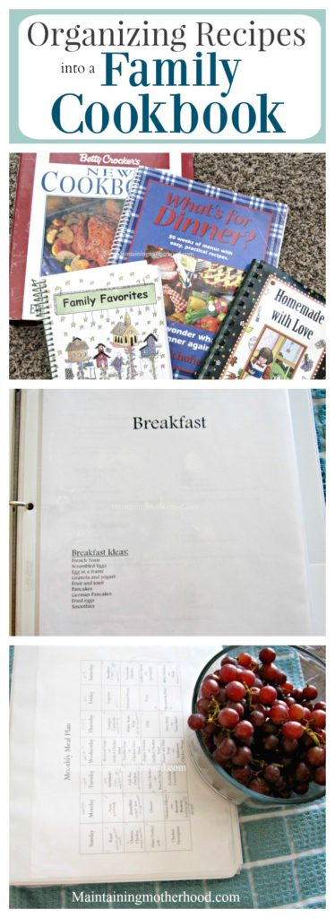 What's for dinner? Organizing recipes into a Family Cookbook can help you easily choose your favorite cheap, easy, and healthy recipes to cook.