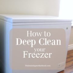 How to Deep Clean Your Freezer