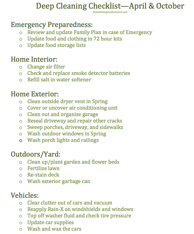 This month's deep clean challenge focuses on emergency preparedness and the home exterior. Get your free printable and join in the challenge!