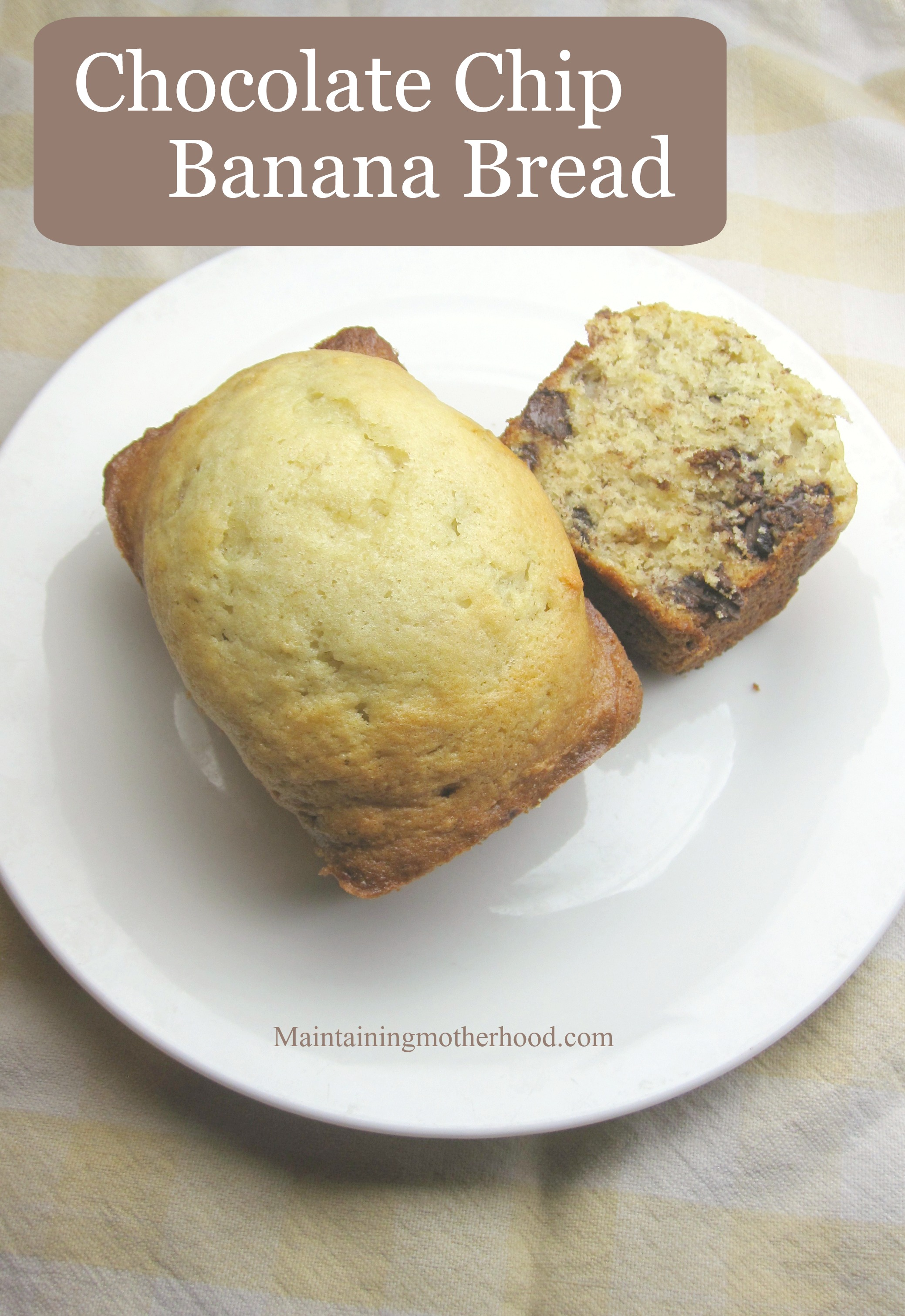 If you love fresh banana bread in the perfect size, this is the recipe for you! This Chocolate Chip Banana Bread cooked in mini loaf pans is delicious!