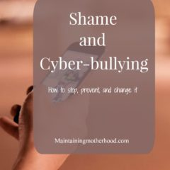 Shame and Cyber Bullying