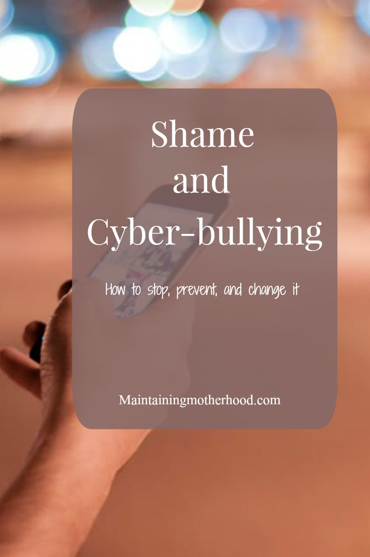 Online shame and cyber bullying. How can we stop it? Not only that, but how can we change it? Here are 3 steps to changing our online responses.