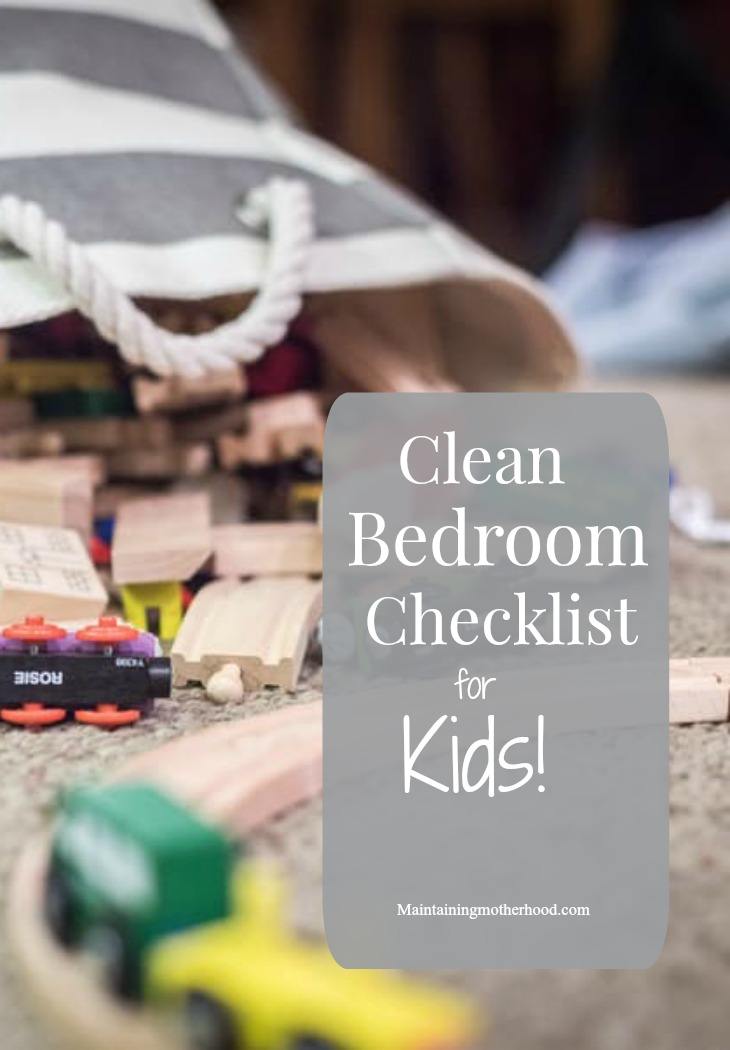 Do your kids have messy bedrooms? Use this Clean Bedroom Checklist for Kids so their rooms stay clean according to your standards!