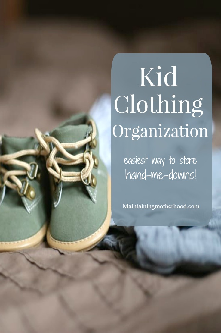 Kids hand-me-downs can be a life saver or time waster. It all depends on how you sort, store, and organize. Check out our clothing organization for 6 kids!