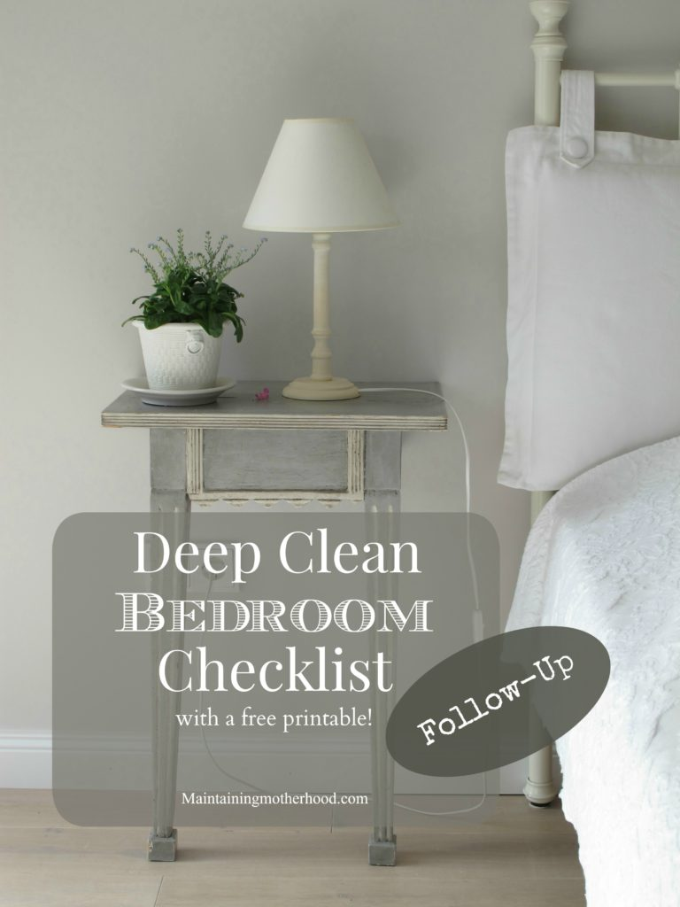 Check out my March Deep Clean Bedroom Follow-Up. Look over my Bedroom Deep Clean list. See what a difference it made for me, and try it for yourself!