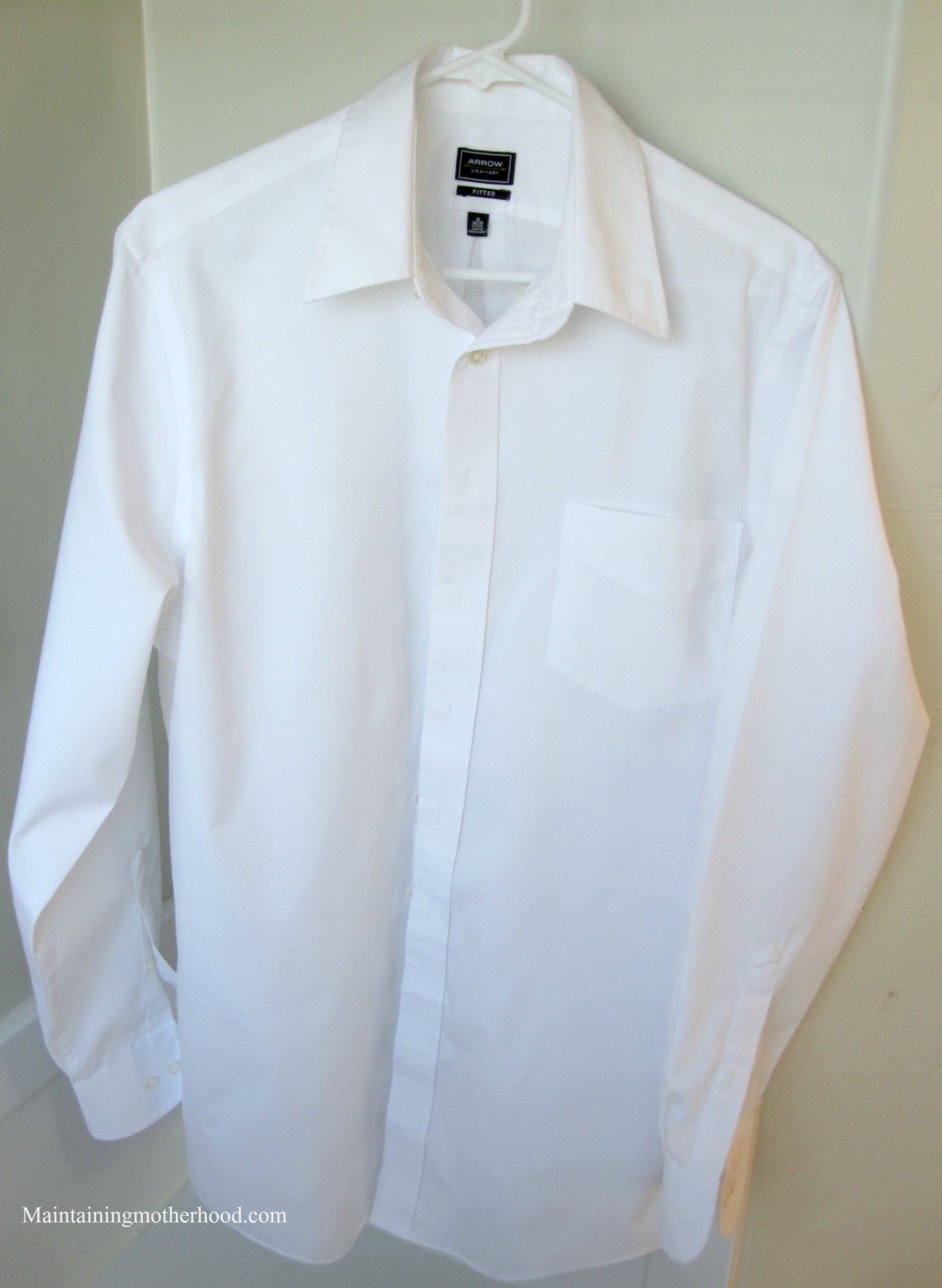 How to starch a shirt like the dry cleaners for Starch on dress shirts