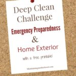Deep Clean Challenge-Emergency Preparedness and Home Exterior