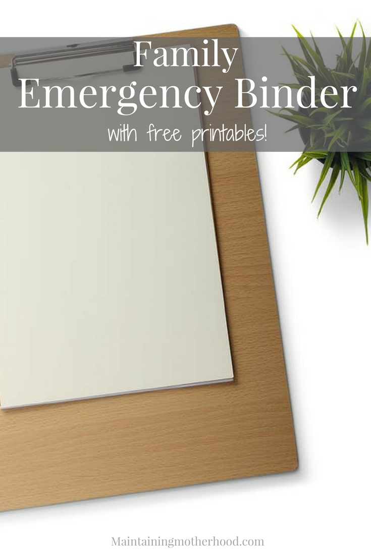 Do you have all your important documents in one place in case of an emergency? Use this simple checklist to create your own Grab and Go Emergency Binder.