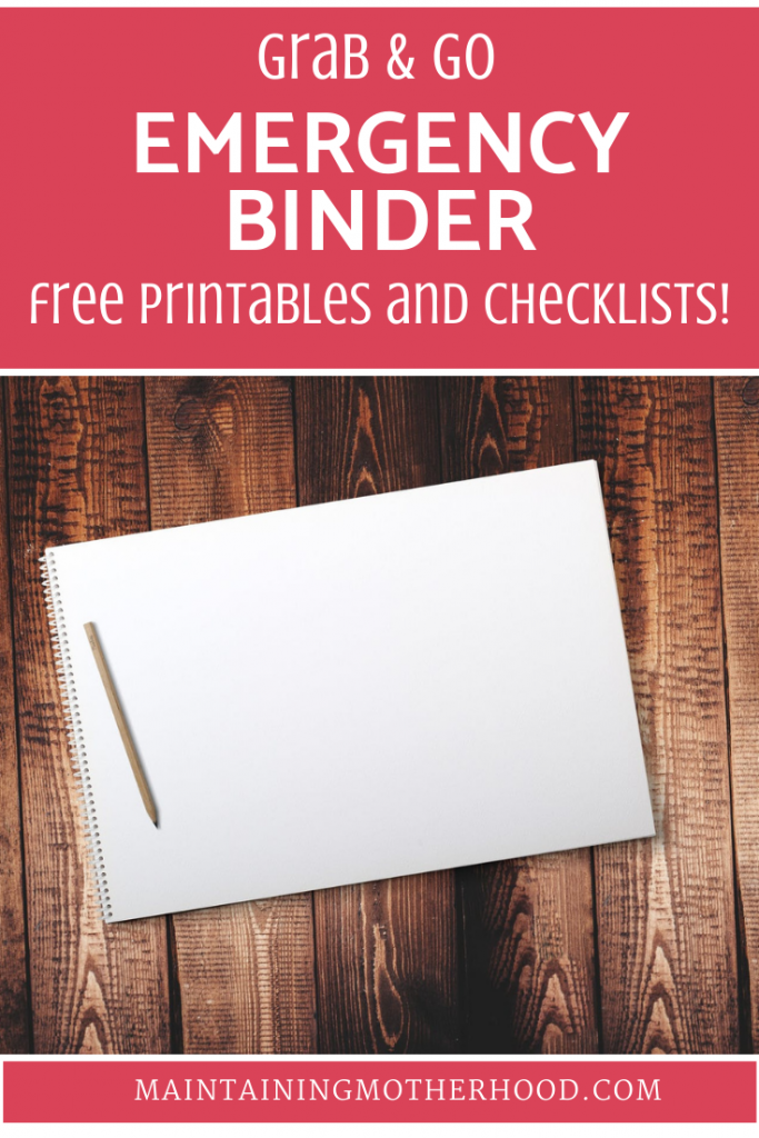 Grab and Go Emergency Binder free printables will help you gather and organize all your most important documents in case of an emergency!