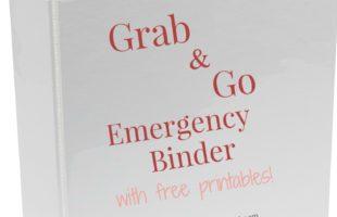 Grab and Go Emergency Binder