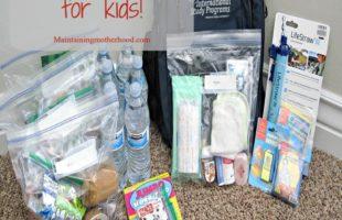 72 Hour Kit for Kids