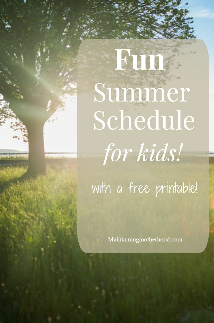 Looking for a simple schedule to follow with your kids this summer? Check out my summer schedule for kids all planned out for a summer full of fun!
