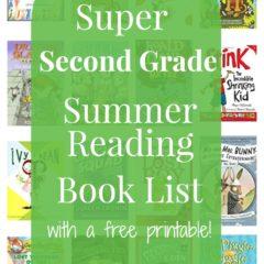 Second Grade Summer Reading Book List