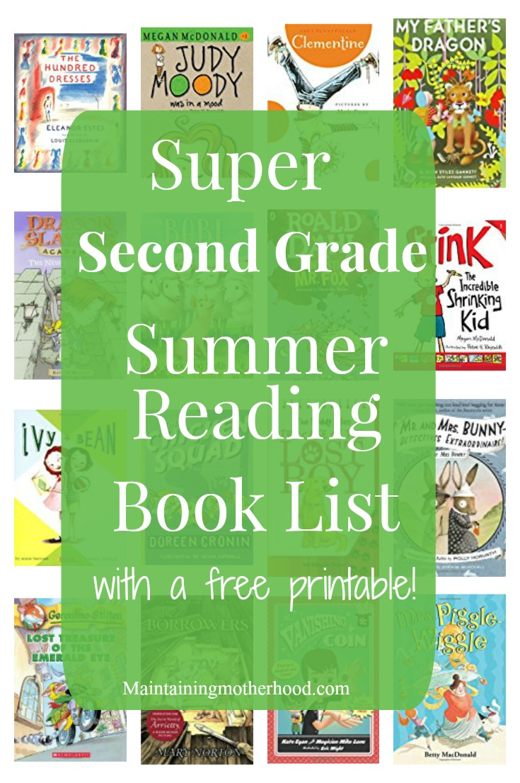 Need some great books for your Second Grader to read this summer? Look no further! Get your First Grade Summer Reading Book List here!