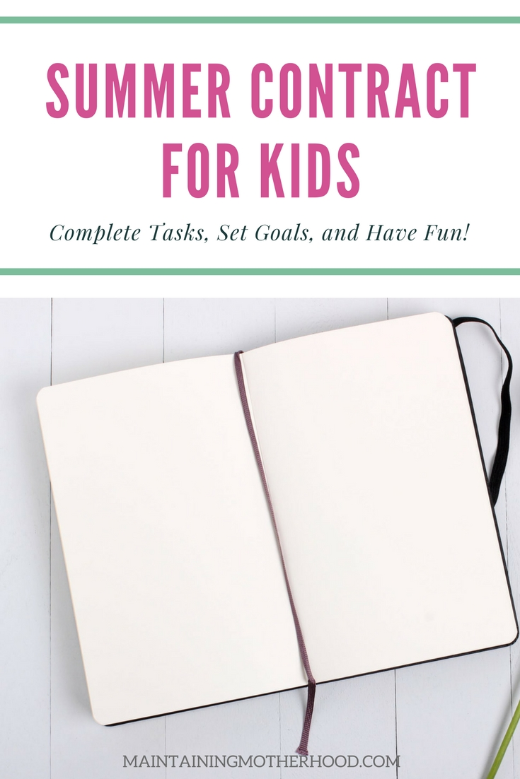 Looking for a great way to keep kids motivated and on track this summer? A Kid's Summer Contract will help kids complete tasks, set goals, and have fun!