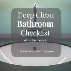 Deep Clean Bathroom Checklist